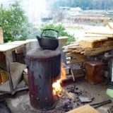 自作で簡単にできる!キャンプ用薪ストーブの作り方!