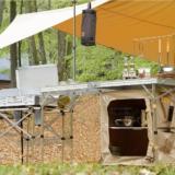 テーブルがすっきり!キャンプ用棚付きキッチンテーブル6選!